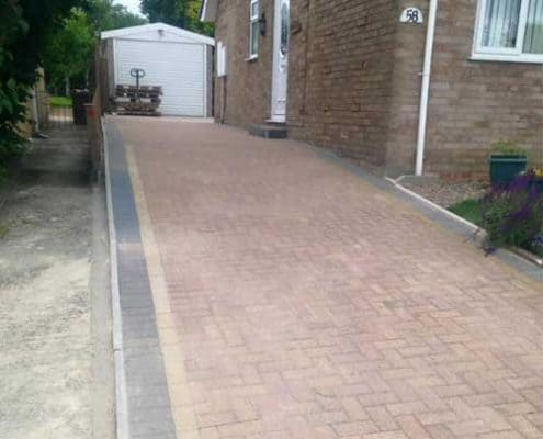 R lugg Gloucestershire paved driveway