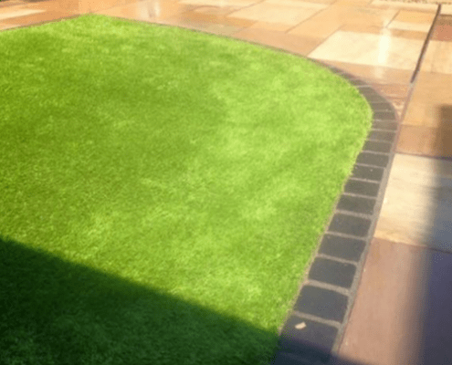 New lawn and patio in gloucestershire by R lugg landscaping and gardening services