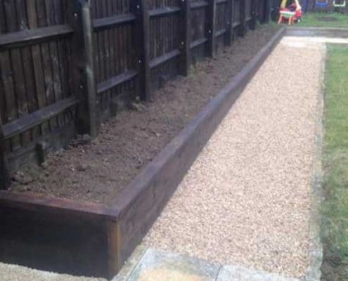 New raised flower bed install by R lugg Gloucestershire