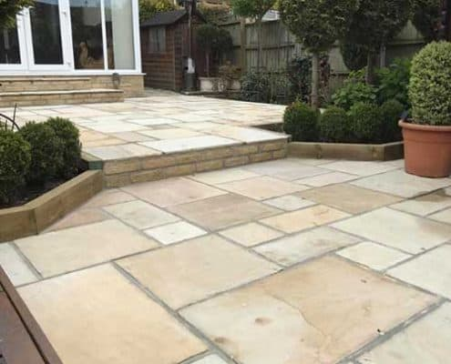 Rear garden transformation Cheltenham R lugg landscaping and gardening services