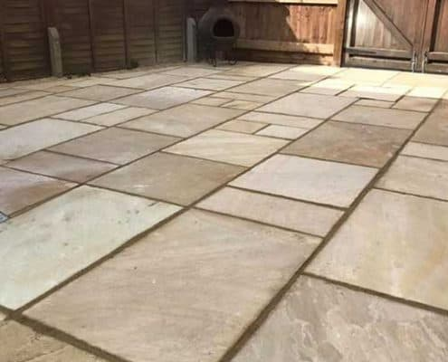 New stone patio tewkesbury r Lugg landscaping and gardening services