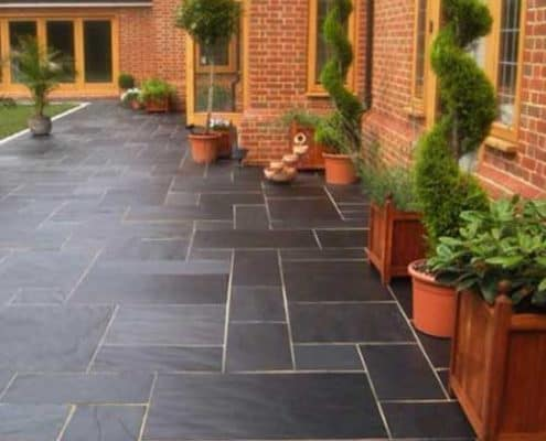 Beautiful slate patio by Gloucestershire R Lugg