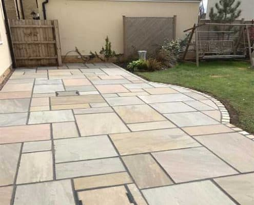 indian sandstone patios cheltenham r lugg landscaping and gardening services