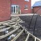 New build Garden Design Building the base