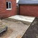 New build Garden Design sand stone patio